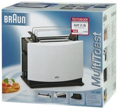 Braun MultiToast HT450 weiß 2-Schlitz Toaster